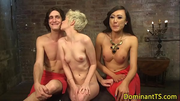 Dominating ts cocksucked and rimmed by subs