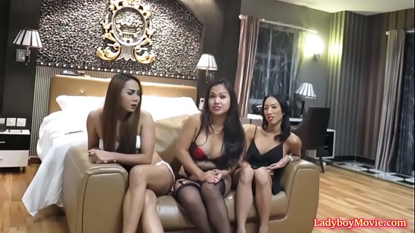Hot Orgy With Two Ladyboys