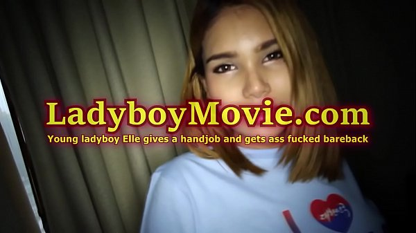 Ladyboy Elle Handjob and Bareback Anal